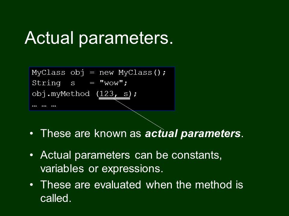 Formal parameters.