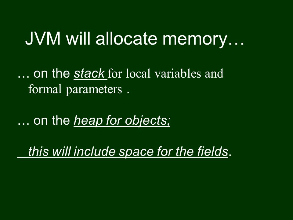 Stack summary.