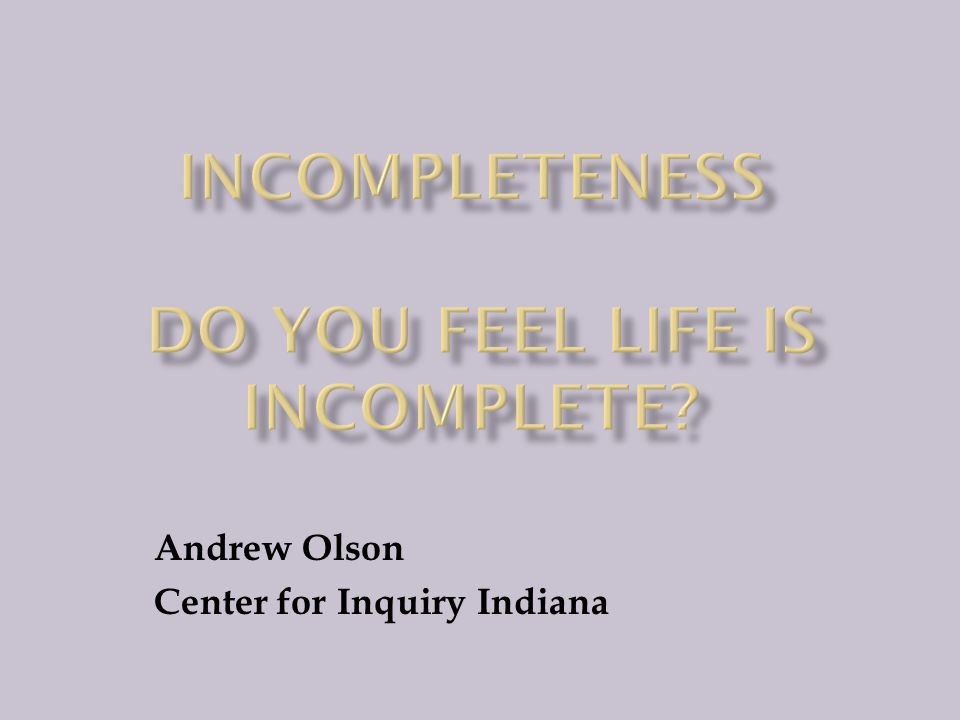 Andrew Olson Center for Inquiry Indiana