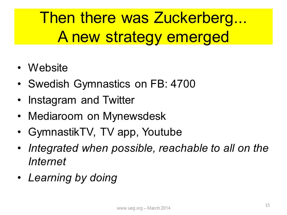 Then there was Zuckerberg...