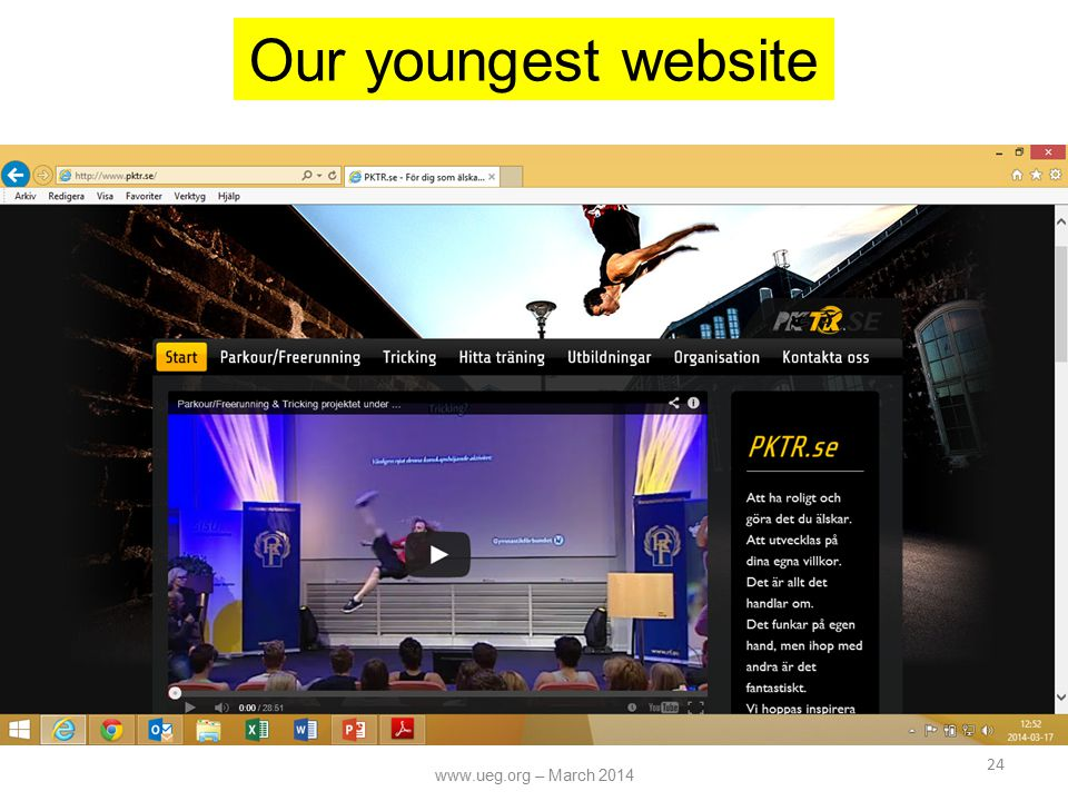 24 Our youngest website www.ueg.org – March 2014