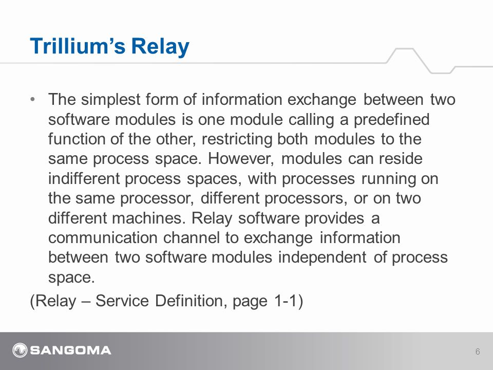 The simplest form of information exchange between two software modules is one module calling a predefined function of the other, restricting both modules to the same process space.