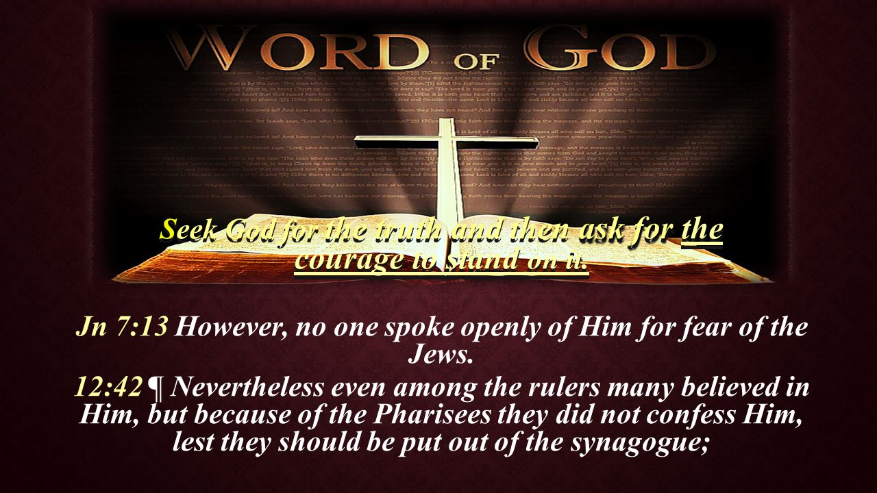 Rm 13:1 ¶ Let every soul be subject to the governing authorities.