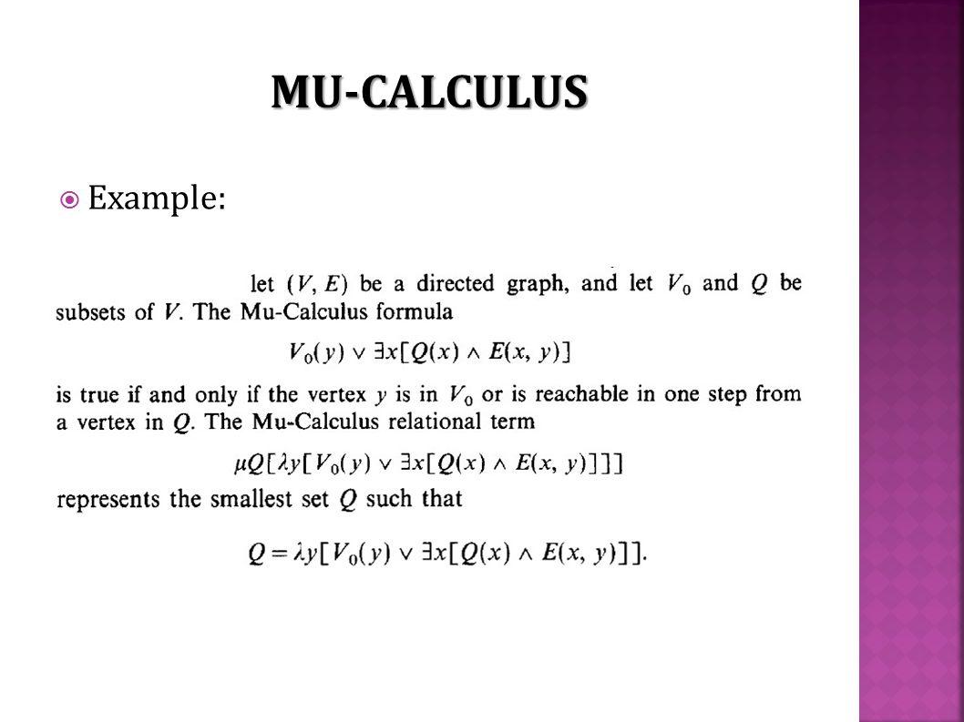  Example: MU-CALCULUS