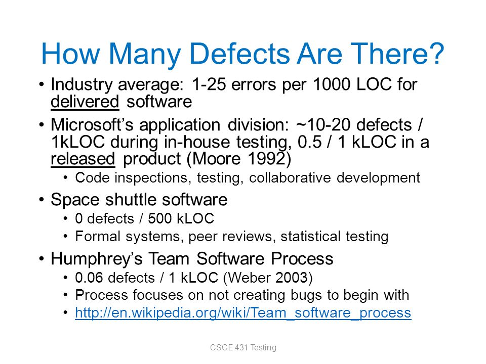 How Many Defects Are There.