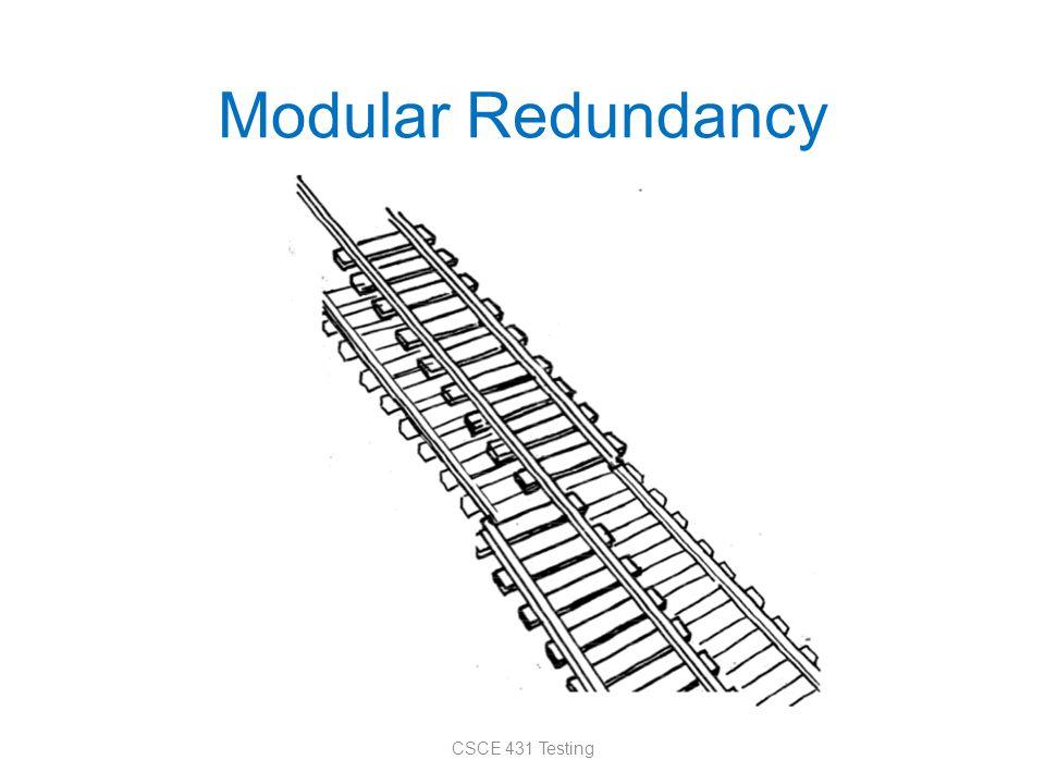 Modular Redundancy CSCE 431 Testing