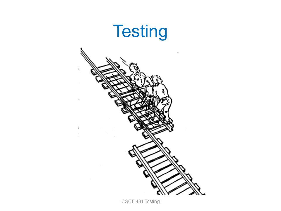 Testing CSCE 431 Testing