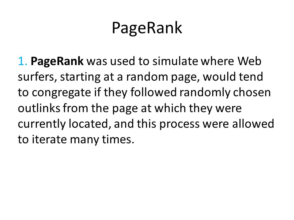 PageRank 1.
