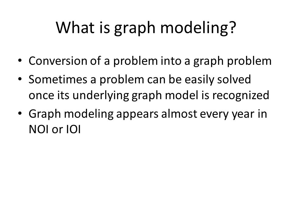What is graph modeling.