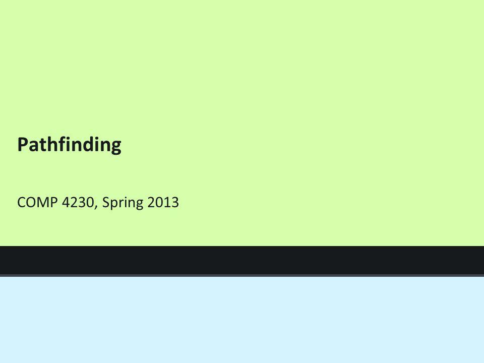 Pathfinding COMP 4230, Spring 2013