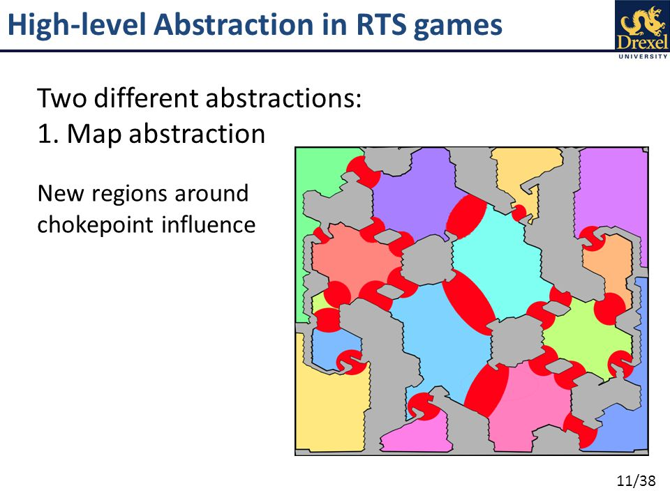 11/38 High-level Abstraction in RTS games Two different abstractions: 1.