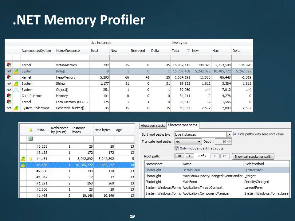 19.NET Memory Profiler