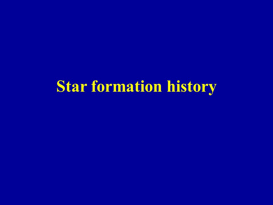Star formation history