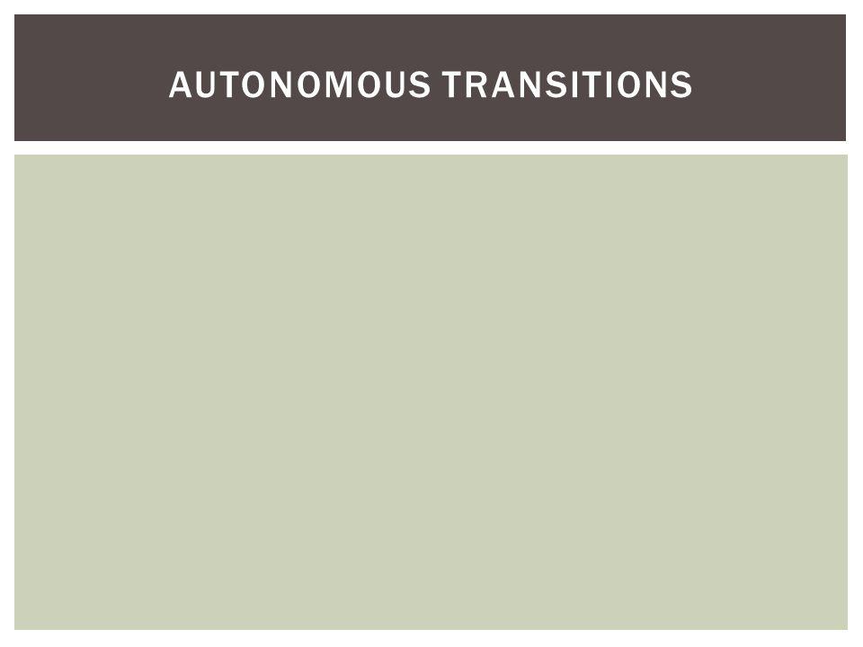 AUTONOMOUS TRANSITIONS