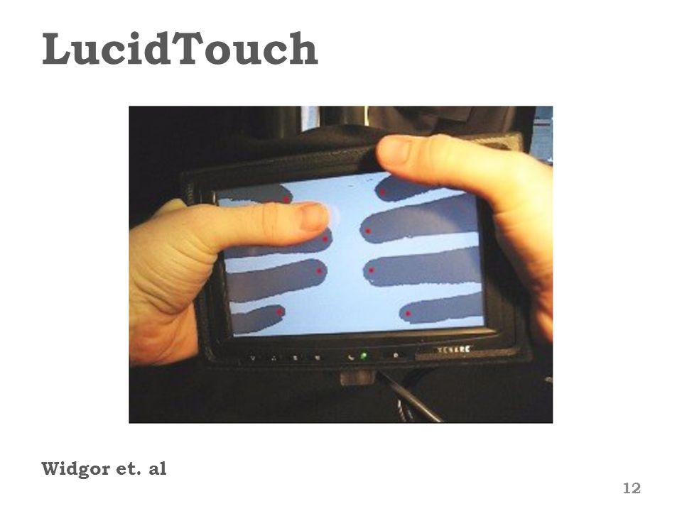 LucidTouch Widgor et. al 12