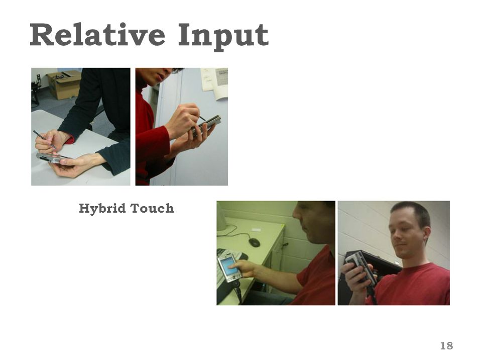 Relative Input 18 Hybrid Touch