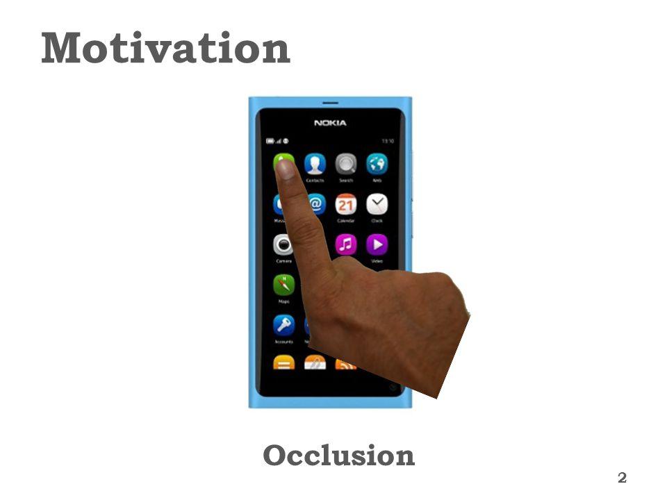 Motivation 2 Occlusion