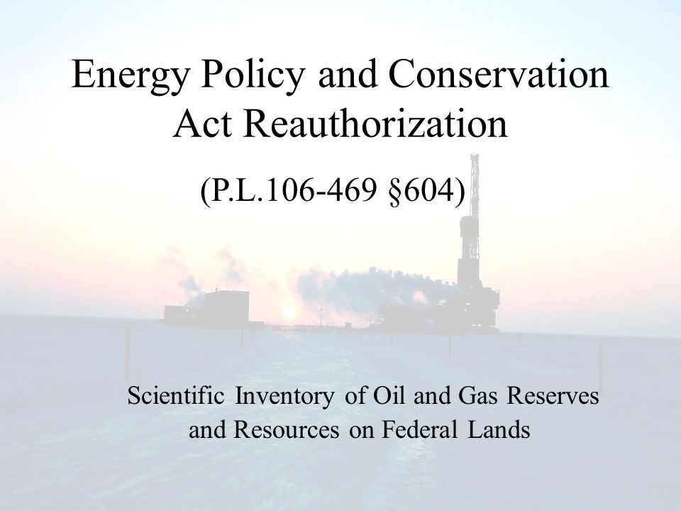 Energy Policy and Conservation Act Amendments of 2000 SEC.