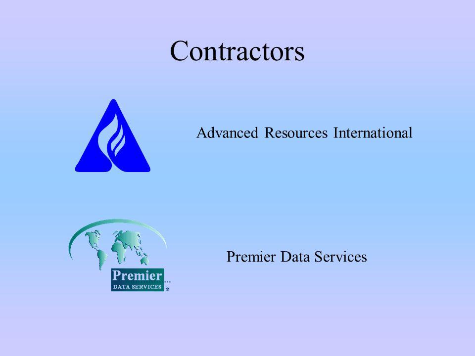 Contractors Advanced Resources International Premier Data Services