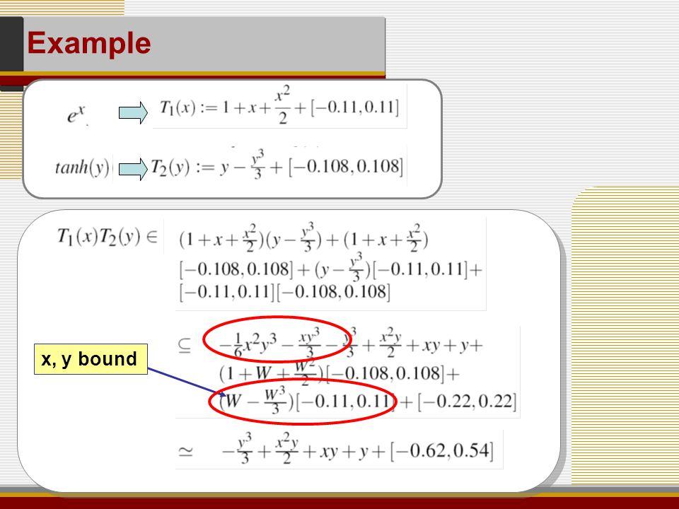 Example x, y bound