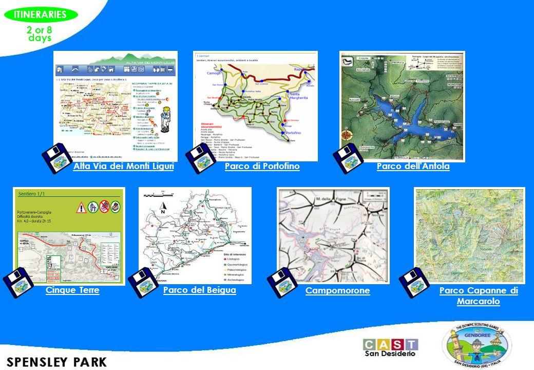 2 or 8 days Alta Via dei Monti Liguri Parco di PortofinoParco dell Antola Cinque TerreParco del Beigua Campomorone Parco Capanne di Marcarolo ITINERARIES