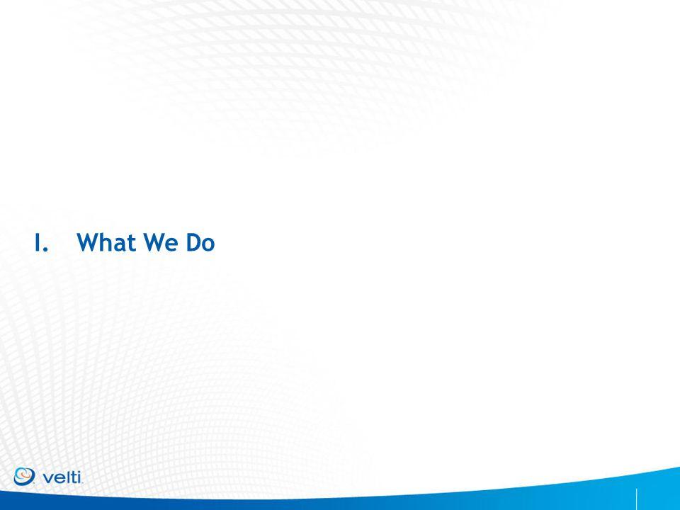 CONFIDENTIAL & PROPRIETARY I.What We Do
