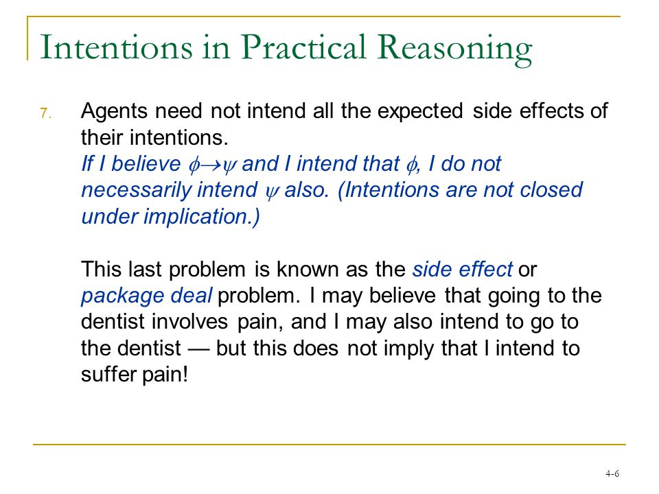 4-6 Intentions in Practical Reasoning 7.
