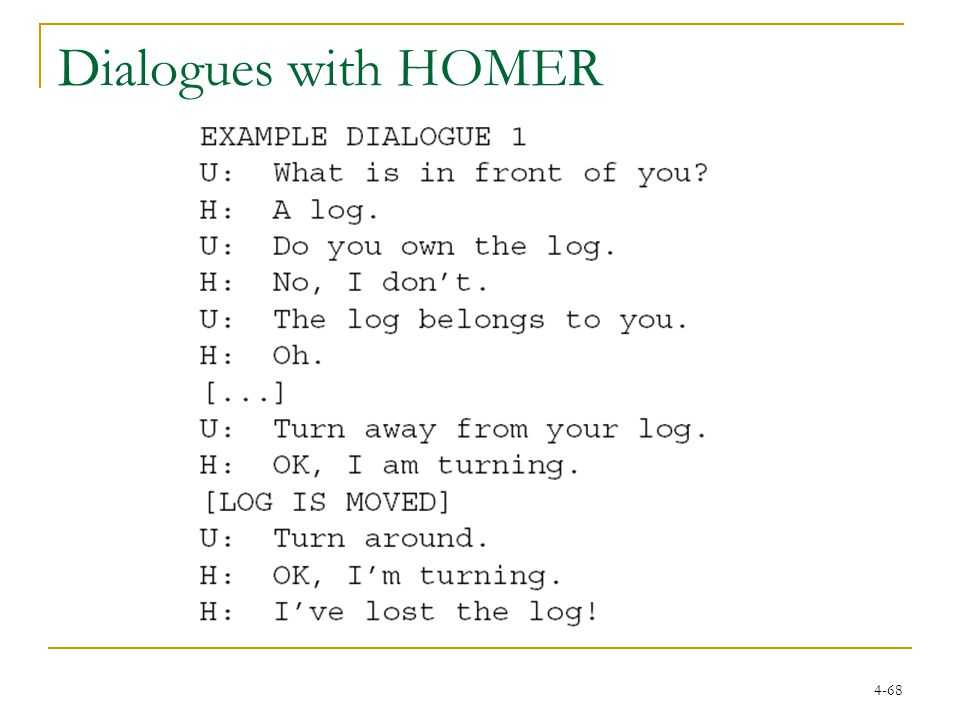 4-68 Dialogues with HOMER