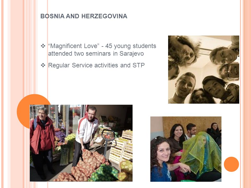  Magnificent Love - 45 young students attended two seminars in Sarajevo  Regular Service activities and STP BOSNIA AND HERZEGOVINA