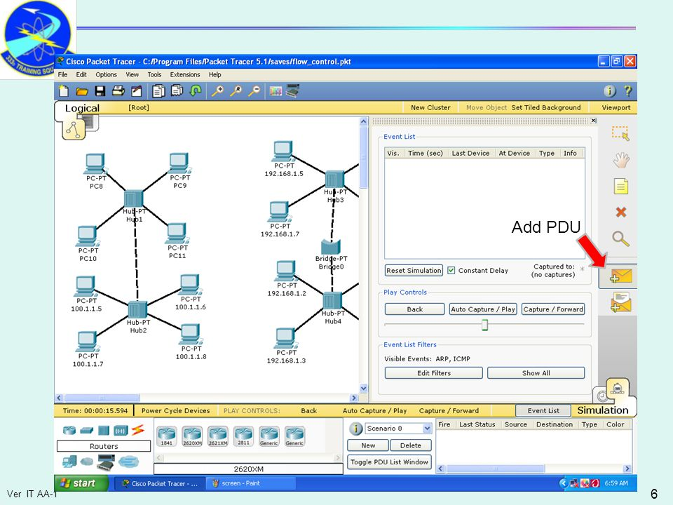 Ver IT AA-1 47 Perform Network Fault Isolation Network Flow Control Ping command –A failed ping command