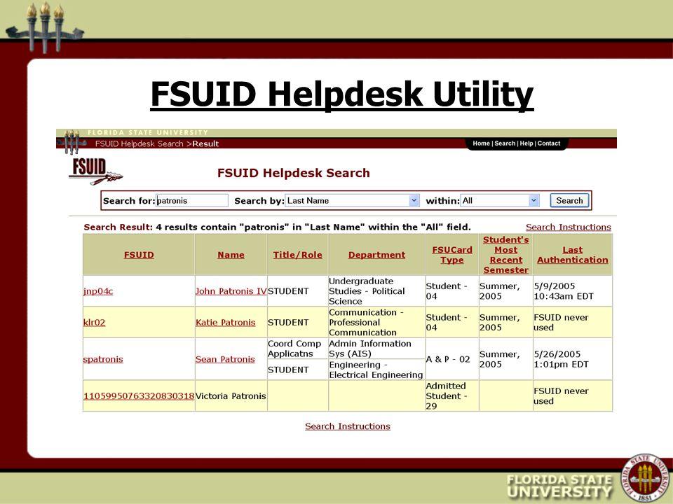 FSUID Helpdesk Utility