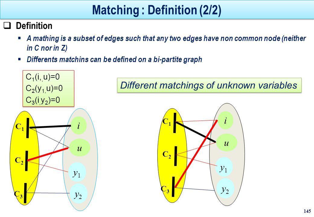 Maximal matching  A maximal matching on G(Cx, X, Ax) is a matching G(Cx, X, A) s.t.:   A  A, A  A G(Cx, X, A ) is not a matching.