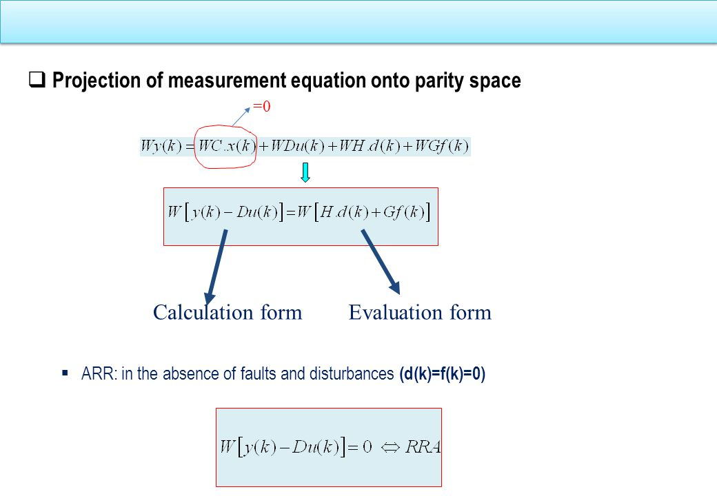 Forms of vector parity Evaluation formCalculation form