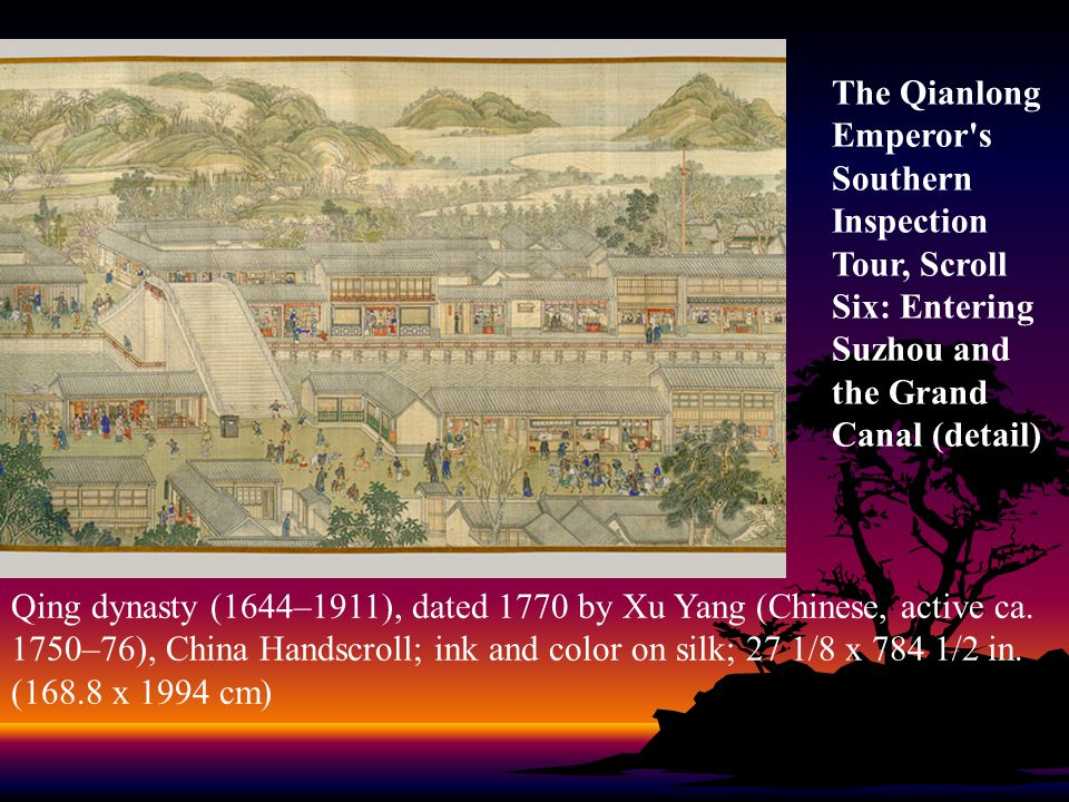 Qing dynasty (1644–1911), dated 1770 by Xu Yang (Chinese, active ca.