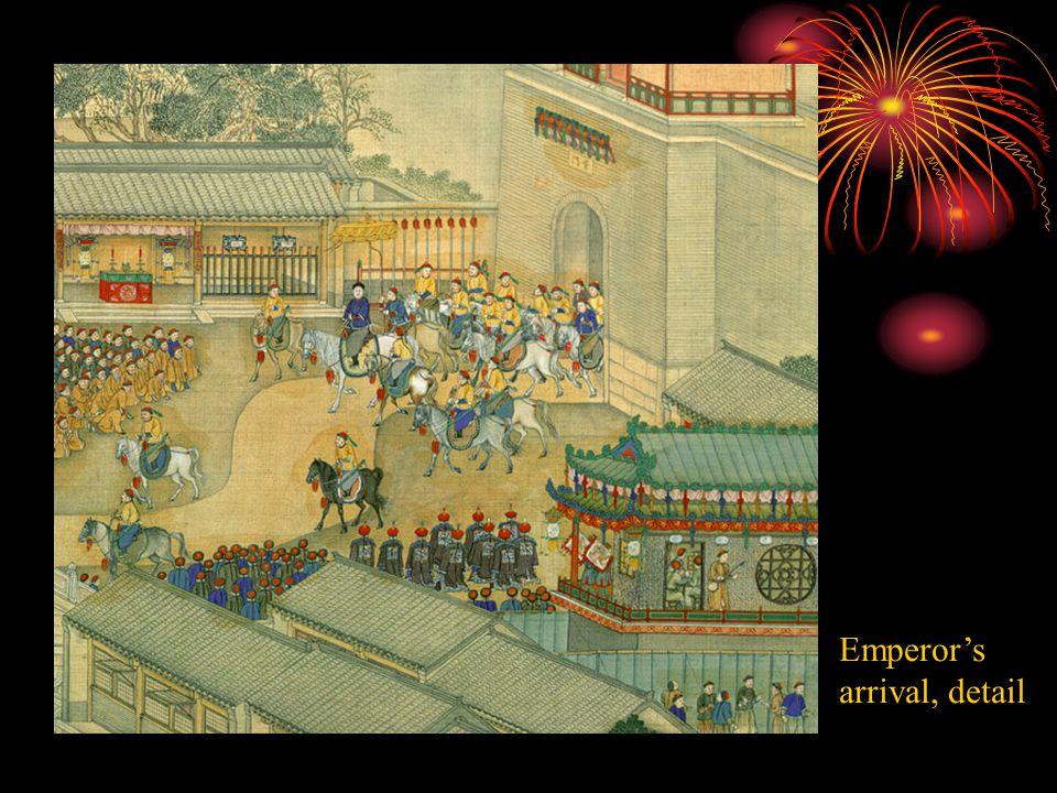 Emperor's arrival, detail