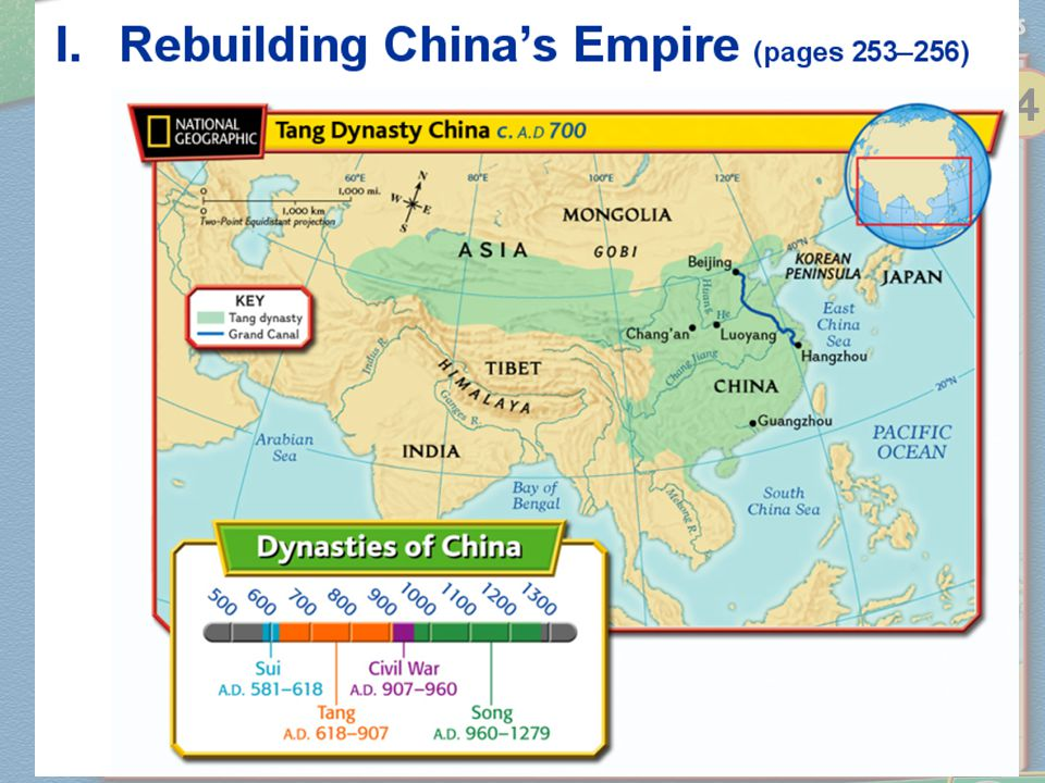 Rebuilding China's Empire Section 1 Notes One of Yangdi's generals took control in A.D.