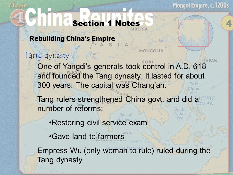Section 1 Notes Civil Service Exam Tang and Song dynasties hired govt.