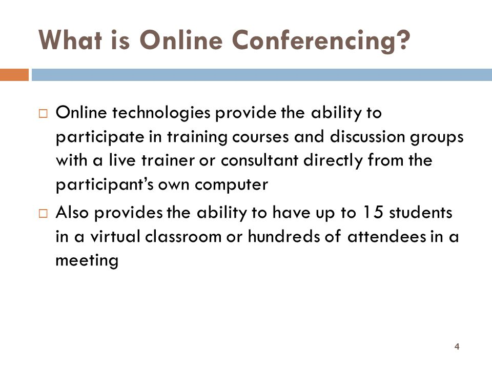 What is Online Conferencing.