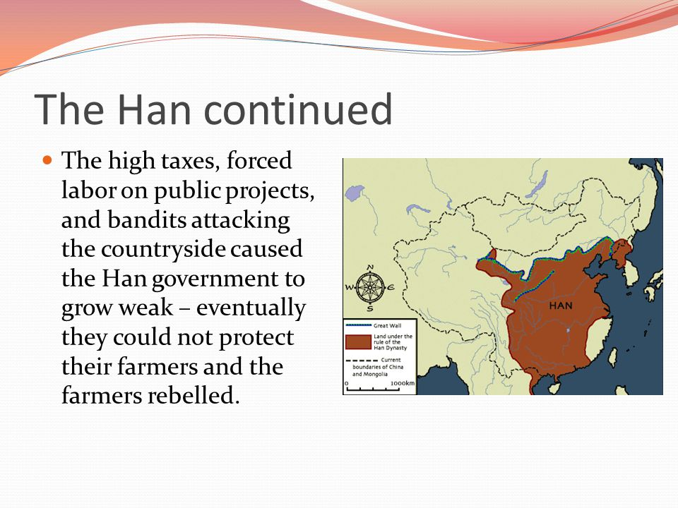 The Han Dynasty After the fall of the Qin Dynasty, the Han Dynasty took over.