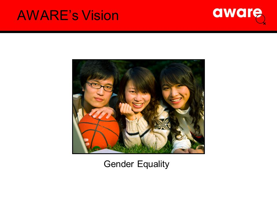 AWARE's Vision Gender Equality