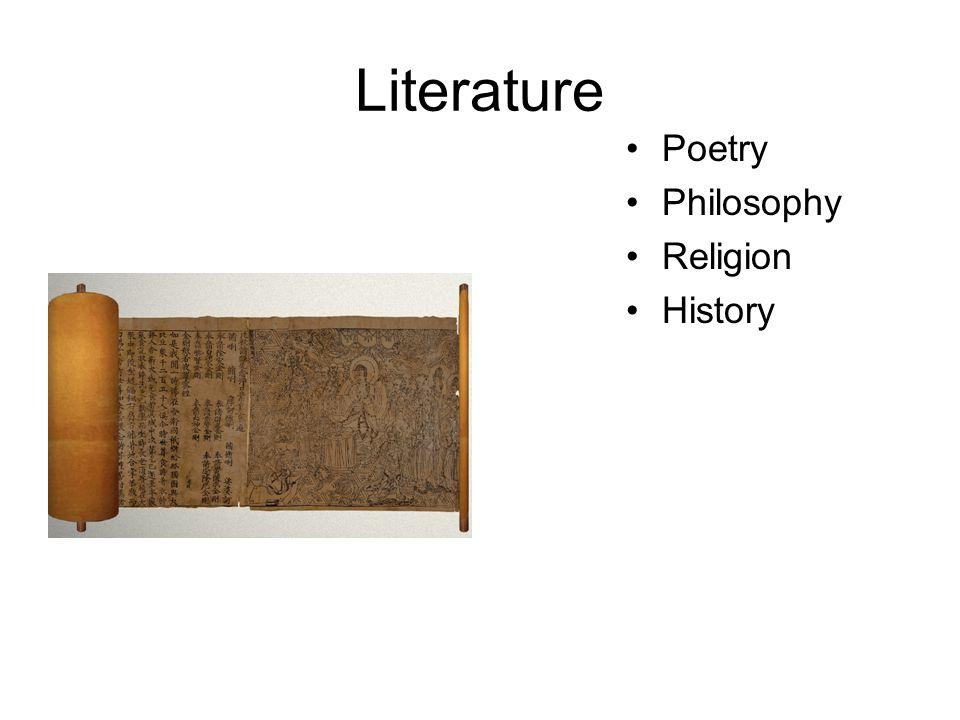 Literature Poetry Philosophy Religion History