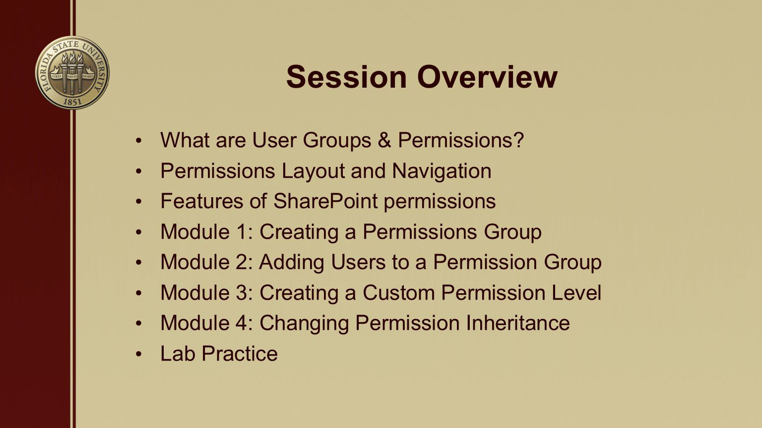 What are User Groups & Permissions.