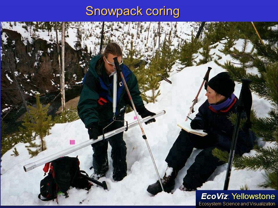 EcoViz: Yellowstone Ecosystem Science and Visualization Snowpack coring