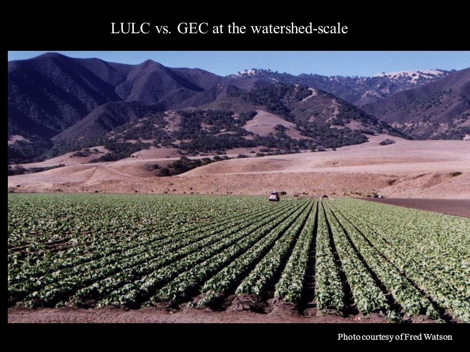 Photo courtesy of Fred Watson LULC vs. GEC at the watershed-scale