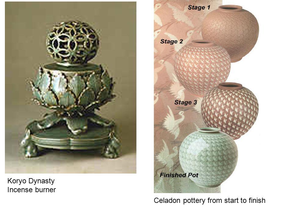 Koryo Dynasty Incense burner Celadon pottery from start to finish