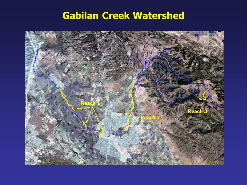 Gabilan Creek Watershed Reach 1 Reach 2 Reach 3