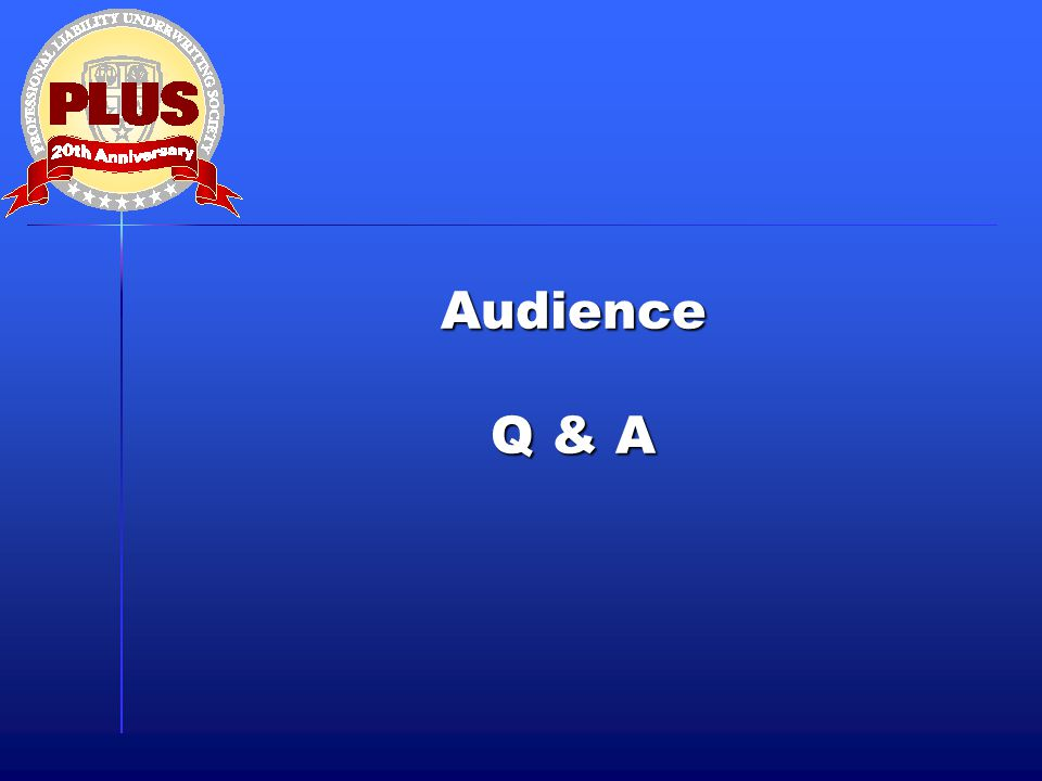 Audience Q & A