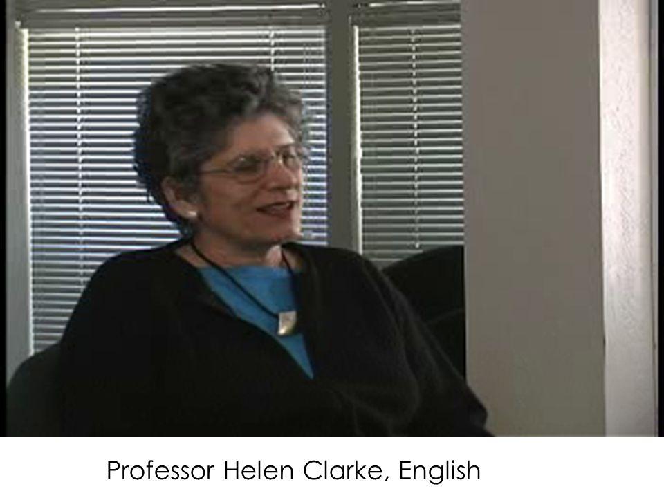 Professor Helen Clarke, English