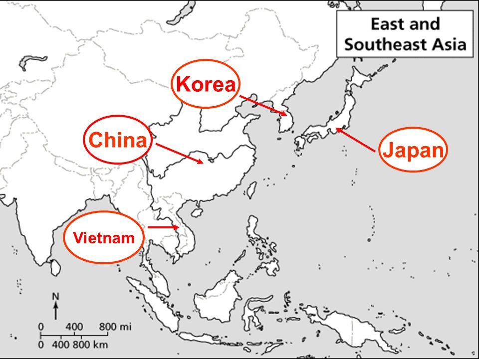 China Korea Japan Vietnam