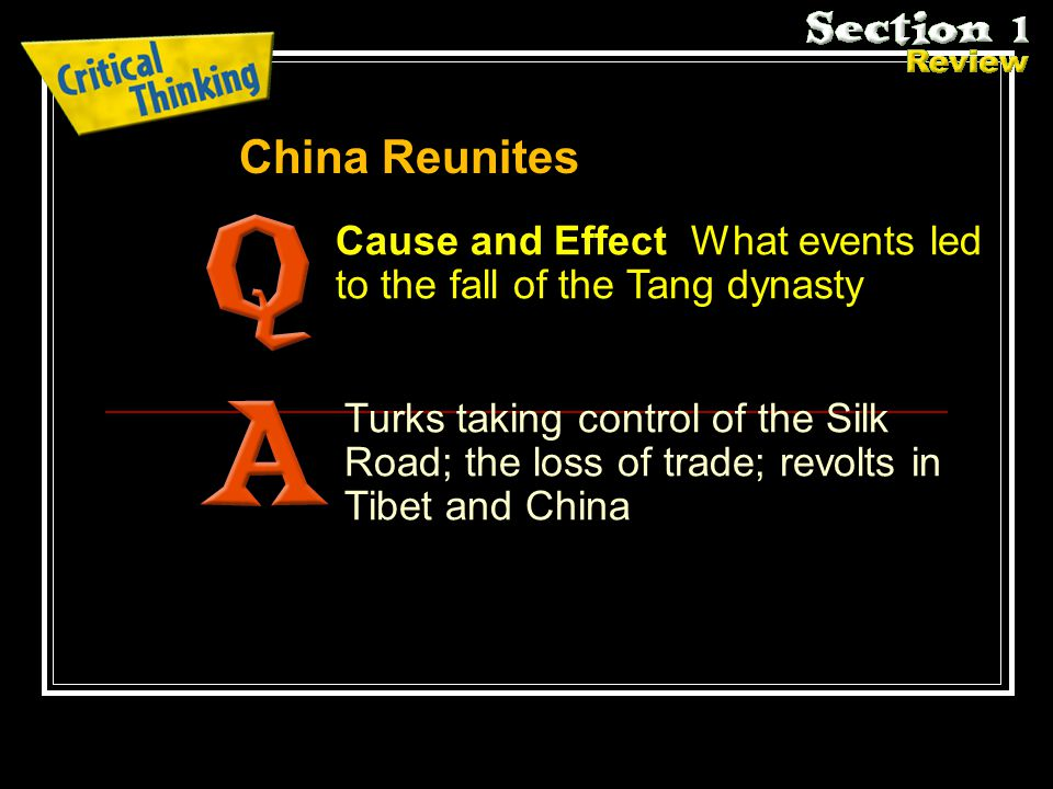 Cause and Effect What events led to the fall of the Tang dynasty.